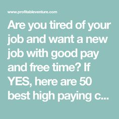 Are you tired of your job and want a new job with good pay and free time? If YES, here are 50 best high paying career change ideas at age 40 to 50 Career Change, New Career, New Job, High Paying Careers, Technical Writer, Career Exploration, Seo Specialist, Changing Jobs, Best Careers