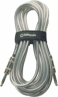 """DiMarzio Instrument Cable Metallic Chrome 6 Foot by DiMarzio. $27.99. DiMarzio Instrument Cables are top rated by Guitar Player Magazine - They easily passed Guitar Player's """"Zildjian cymbal guillotine test"""" and """"jump rope test"""" of 9/97, demonstrating how well built and reliable they are in real world conditions. In order to carry the DiMarzio name, they have to sound great too. Guitar Player describes them as """"quiet and transparent with a clear balance from lows to highs."""" ..."""