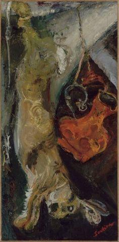 Chaïm Soutine, Le Lapin, 1923-24,Huile sur toile, 73 x 36 cm | Paris, Musée de l'Orangerie