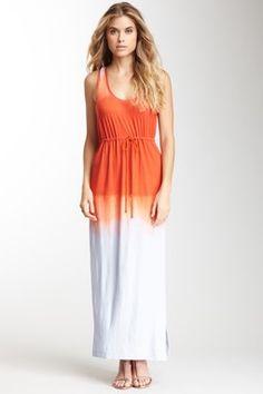Dip Dye Print Maxi Dress