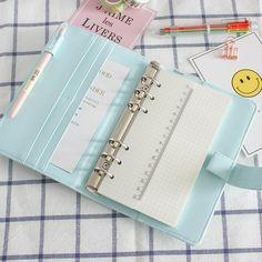 promo jianwu macarons pu binder a5 a6 notebook diary schedule book planner diary loose leaf binder #planner #notebook