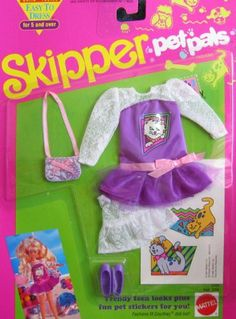 Skipper Barbie Doll Pet Pals Fashion Set with Stickers by Mattel. $24.99. Brand new in box. brand new in box