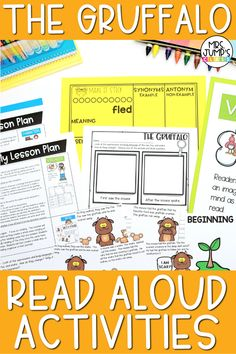 The Gruffalo is one of my favorite fall read alouds. With these Gruffalo read aloud activities, students can practice important kinder and 1st grade reading comprehension skills like retelling, predicting and making connections!