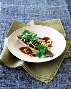 Try this quick and easy Thai recipe with lovely sea bass.