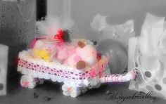 A personal favorite from my Etsy shop https://www.etsy.com/listing/225976265/diaper-cake-babys-first-wagon-welcome