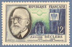 Zoom sur le timbre «Antoine Béclère (1856-1939 https://pinterest.com/pin/287386019942297989/) - Fondateur de la radiologie française »,1957.