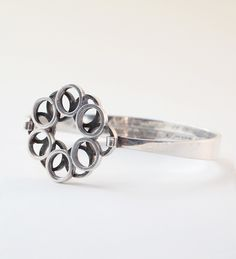 "#shopjewelry > Erik Granit, vintage sterling silver ""Keha"" (Ring) bracelet, 1966. #Finland | FinlandJewelry.com"