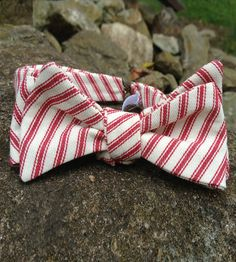 Candy Stripe Cotton Bow Tie by Megan Cash on Scoutmob Shoppe. Ditch the straight and narrow and go for a little festivity.
