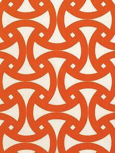 DecoratorsBest - Detail1 - Sch 174301 - Santorini Print - Persimmon - Fabrics - - DecoratorsBest