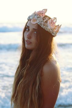 Sweet Sea Mermaid Crown by wildandfreejewelry on Etsy