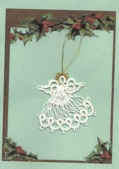 Angel of tatted lace and hairpin lace by Martha Ess
