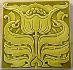 One of the best Art Nouveau designs from Marsden c1906 reference number 544 in the book Art Nouveau Tiles with Style.