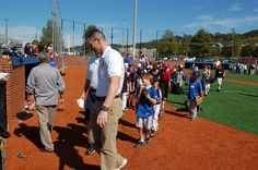 Taking the field at the 2011 Legends Clinic