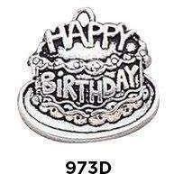 Birthday Cake Charm in .925 Sterling Silver
