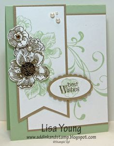Stampin' Up! Everything Eleanor stamp set. Handmade Wedding card by Lisa Young, Add Ink and Stamp