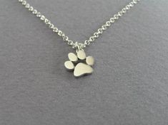 Cat and Dog Paw Print Pendant Necklace