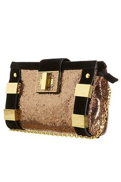 Gold TopShop bag