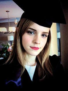 Emma Watson graduating from Brown University