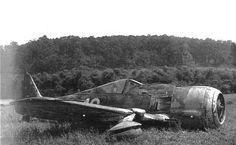 German FW 190 crashed in Indiana while being ferried to Wright Field, Ohio