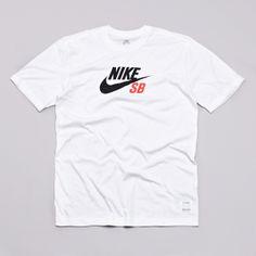 Flatspot - Nike Sb Dri-Fit Icon Logo T Shirt White / Black