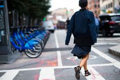 New York Fashion Week Street Style, Day 3 - -Wmag