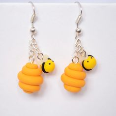 Honey & Bees Clay Earrings