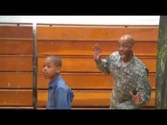 Soldier Dad Photobombs Son's School picture (video) - http://unclesamsmisguidedchildren.com/soldier-dad-photobombs-sons-school-picture-video/
