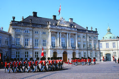The Changing of the Guard at Amalienborg Palace, Copenhagen