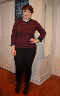 NYC Recessionista: What NYC Recessionista Wears: oxblood and navy
