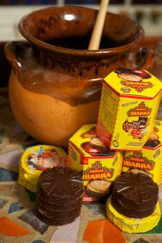 authentic mexican hot chocolate using molinillo and olla de barro ceramic pot