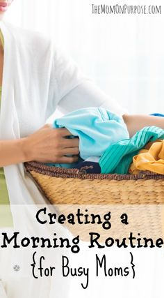 Tips to help you create a very simple morning routine to keep your productivity high and your home clean!