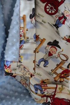 Snuggle Blanket - Lil Cowboys by LukaMish $40