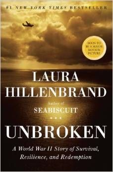 Unbroken: A World War II Story of Survival, Resilience, and Redemption Hardcover – November 16, 2010 by Laura Hillenbrand. #1 New York Times Bestseller. Soon to be a major motion picture. http://www.amazon.com/dp/1400064163/ref=bestsellingever-20