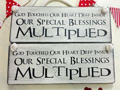 God touched our hearts. Twin Babies, Baby Twins, Love Twins, Wooden Plaques, Twin Sisters, Personalized Gifts, First Love, Unique Gifts, Hearts