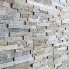 Oyster Maxi Split Face Slate Tiles - Oyster split face panels offer the same beautifully earthy tones and varied surface texture as the oyster slate floor tiles but with the added benefit of being an easy to install, & shaped cladding panel. Exterior Wall Cladding, Cladding Panels, Exterior Wall Tiles, Cladding Ideas, Grey Brick, Brick And Stone, Stone Walls, Stone Feature Wall, Feature Walls