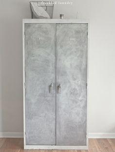 vintage locker inspired lavender cabinet & tutorial