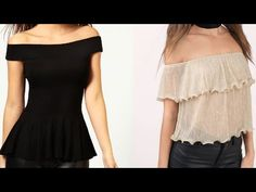 7e1c9be649fa10 DIY Cold Shoulder Top With Ruffle Sleeves Cutting and Stitching Tutorial -  YouTube Sew Off Shoulder