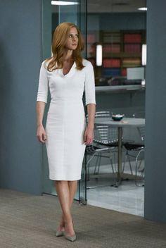 26 Aug 2015 Victoria Beckham Midi Dress Donna Paulsen Suits S05E10 Faith