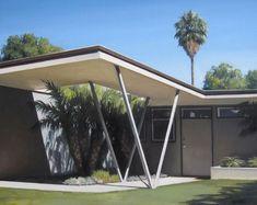 Mid Century Modern Home with Carport - Bing images Modern Landscape Design, Modern Landscaping, Modern Interior Design, Mid Century House, Mid Century Style, Midcentury Modern, Carport Modern, Mid Century Exterior, Gazebo