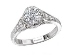 Ring  $1,505.00 STYLE: 001-140-00203 18K WG 1/5 ctw SI1-G fits 6.5mm RD Matching band 117578-100W http://www.theringbygoldgals.com/