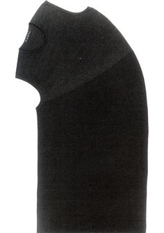 The Seamless Revolution Testu, sleeveless top, illustrating the distorted shape used in the knitwear. Knitwear in Fashion by Sandy Black