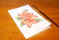 Pinta una tarjeta de flores con acuarelas, muestro el procedimiento para pintar una flor con acuarelas paso a paso, ¡anímense!