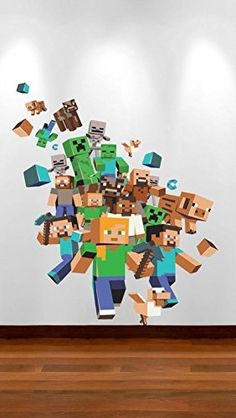 MINECRAFT XBOX GAME FULL COLOUR WALL STICKER BOYS BEDROOM DECAL (40_x_60_cm)