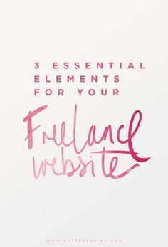 The 3 Essentials For Your Freelance Website   Vari Longmuir
