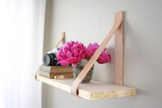 Buy or DIY: Leather Strap Shelves
