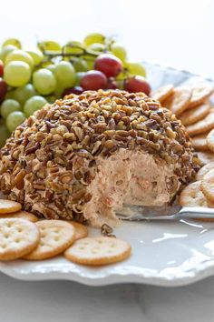 This delicious Shrimp Cheese Ball is prepared with cream cheese, shrimp, onion, seasonings and coated in chopped pecans. An easy make-ahead appetizer! Easy Make Ahead Appetizers, Easy Meals, Brunch Recipes, Appetizer Recipes, Shrimp Recipes, Appetizer Dips, Dinner Recipes, Shrimp Balls, Blog Food
