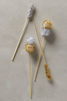 Pom-Pom Cocktail Stirrers | Anthropologie