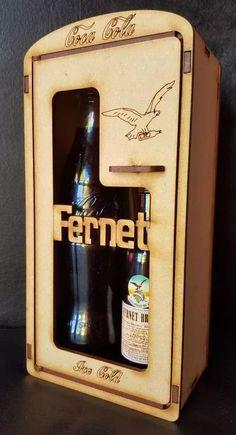 cajitas porta fernet coca porta vino souvenirs fibrofacil