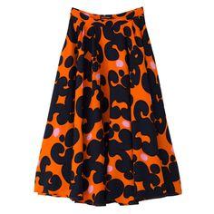 Marimekko's voluminous pleated 'Medera' skirt has been crafted from viscose…