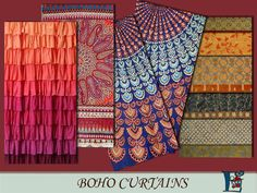 Boho style curtains by evi at TSR • Sims 4 Updates